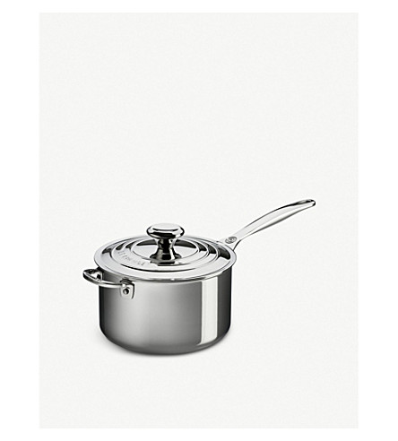 LE CREUSET Non-stick stainless steel saucepan with lid 20cm