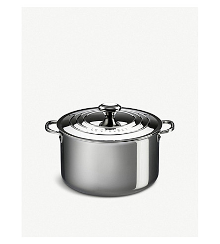 LE CREUSET Stainless steel Stockpot with lid 24cm