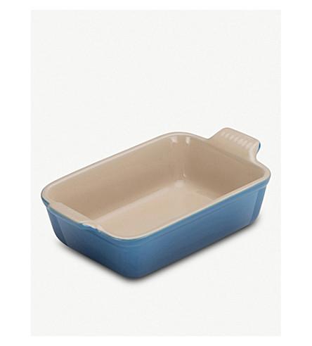 LE CREUSET Stoneware rectangular deep dish 19cm (Marshal+blue