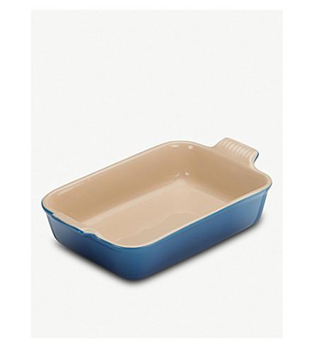 LE CREUSET 粗陶器长方形深盘 26cm (元帅 + 蓝色