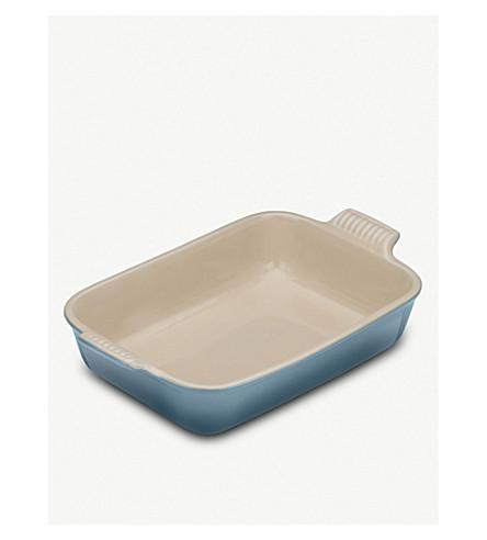 LE CREUSET Medium rectangular stoneware dish (Marine