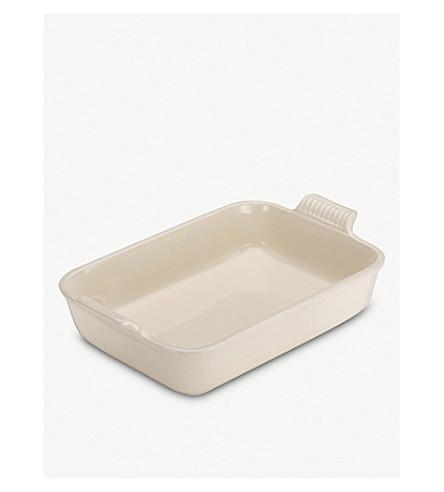 LE CREUSET Stoneware rectangular deep dish 32cm (Almond