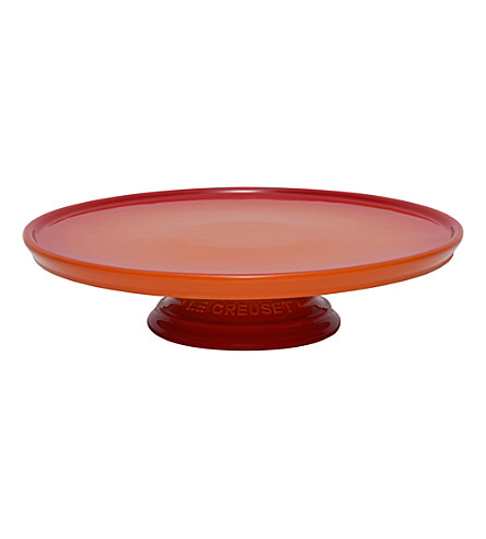 LE CREUSET Stoneware cake stand (Volcanic