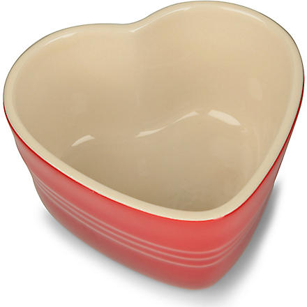 LE CREUSET Stoneware heart-shaped mini ramekin