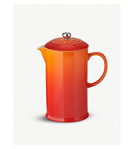 LE CREUSET Stoneware cafetiere (Volcanic