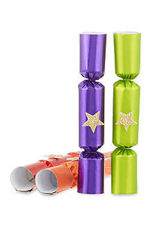 ROBIN REED Box of eight Super Star mini Christmas crackers