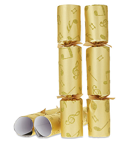 CRACKERS Glitter musical crackers pack of eight