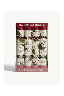 ROBIN REED Box of eight Fill Your Own Christmas crackers