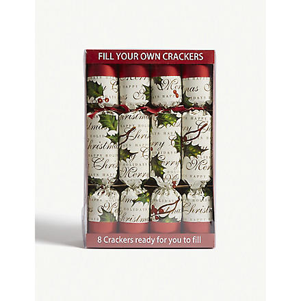 CHRISTMAS Box of eight Fill Your Own Christmas crackers
