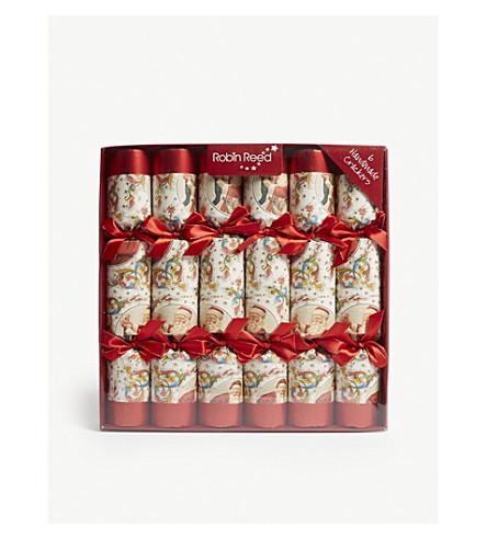"""CRACKERS Victorian Santa crackers 6 x 12"""""""