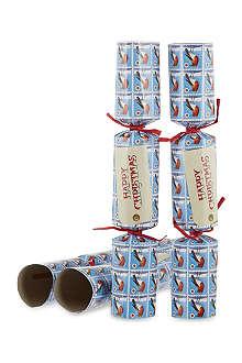 EMMA BRIDGEWATER Happy Christmas robin crackers 6 pack