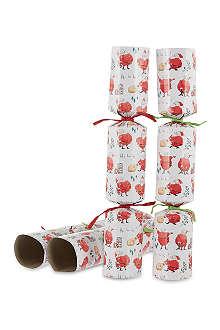 MADELEINE FLOYD Madeleine Floyd Santa crackers 6 pack