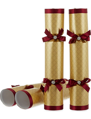 CELEBRATION CRACKERS Diamond trim luxury crackers 6-pack