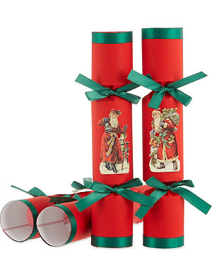 CELEBRATION CRACKERS Father christmas red kids crackers