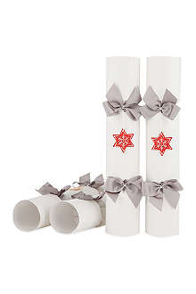 CELEBRATION CRACKERS Red star crackers box of 6