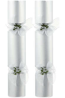 CELEBRATION CRACKERS Silver pin luxury crackers twin-pack