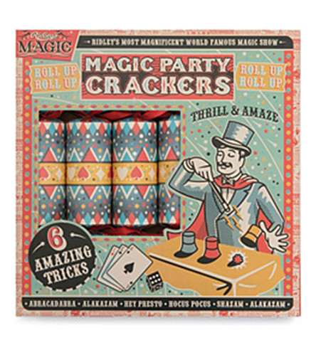 CRACKERS Ridley's magic tricks crackers