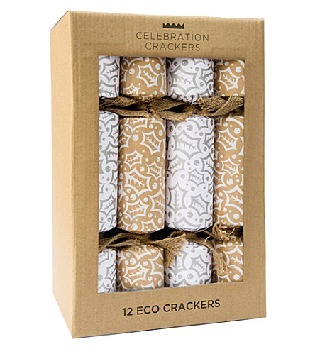CRACKERS Silver Holly Eco cracker -12