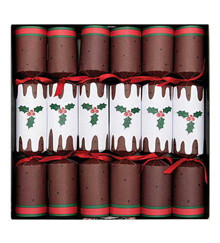 CRACKERS Christmas pudding crackers - 6