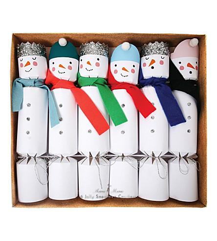 MERI MERI Pack of six Snowman crackers