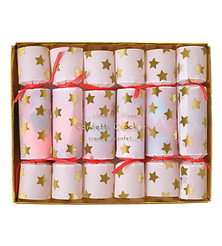 MERI MERI Confetti crackers pack of six