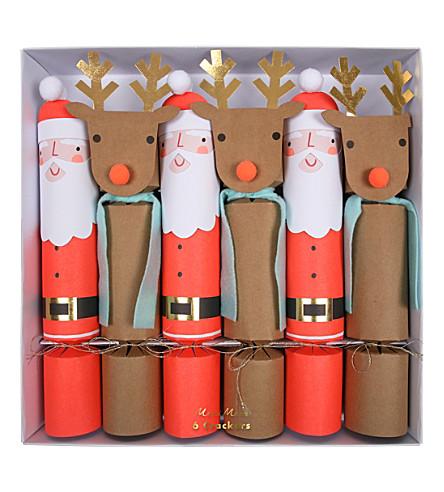 MERI MERI Santa reindeer crackers lg s/6