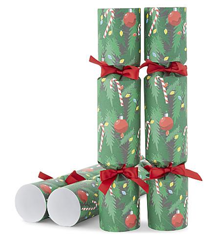 CRACKERS Christmas tree luxury crackers set of six