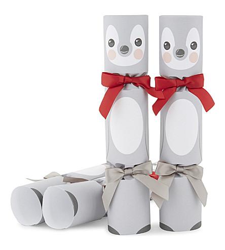 CRACKERS Penguin luxury christmas crackers set of six