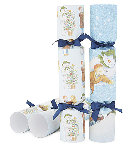CRACKERS The Snowman luxury crackers set of six
