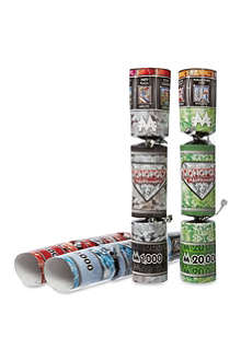 CHRISTMAS Monopoly Millionaire set of six Christmas crackers