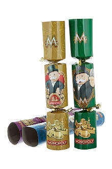 INTERNATIONAL GREETINGS Monopoly Christmas crackers 6-pack