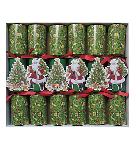 CRACKERS Pack of 6 Lynn Haney Santa crackers