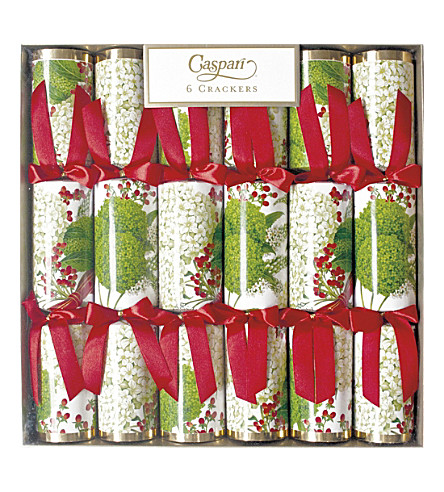 CRACKERS Pack of 6 Festive Hydrangea crackers