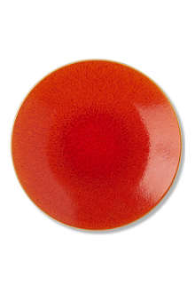 JARS Orange round charger dish