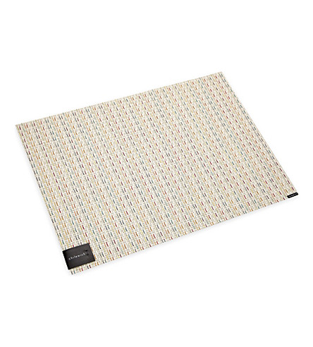 CHILEWICH Wicker sugar table runner 48cm