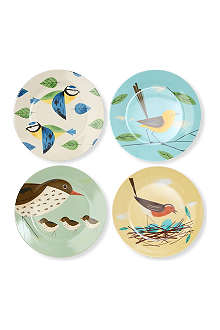 CUBIC Set of four birdy plates