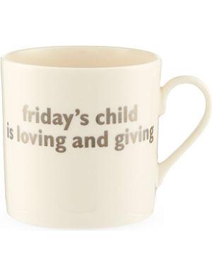THE BIG TOMATO COMPANY Friday christening mug
