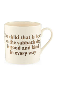THE BIG TOMATO COMPANY Sunday christening mug