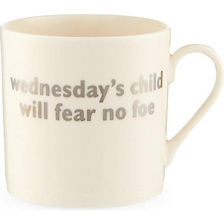 THE BIG TOMATO COMPANY Wednesday christening mug