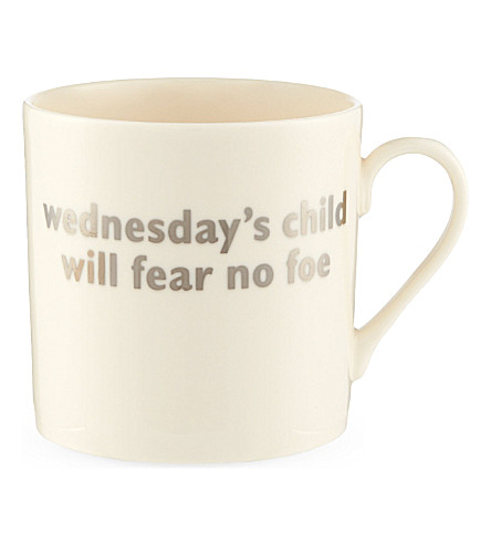 THE BIG TOMATO COMPANY Wednesday christening mug