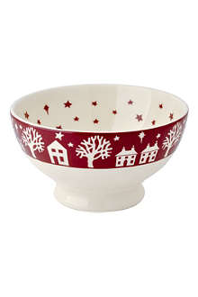 EMMA BRIDGEWATER Christmas Town French bowl