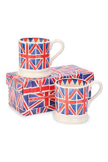EMMA BRIDGEWATER Pair of Union Jack half pint mugs