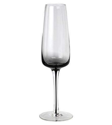 BROSTE Smoke glass champagne flute