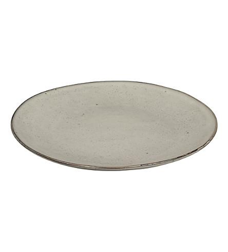 BROSTE Nordic Sand stoneware dinner plate