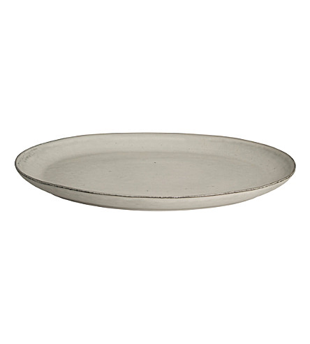 BROSTE Nordic Sand stoneware oval plate