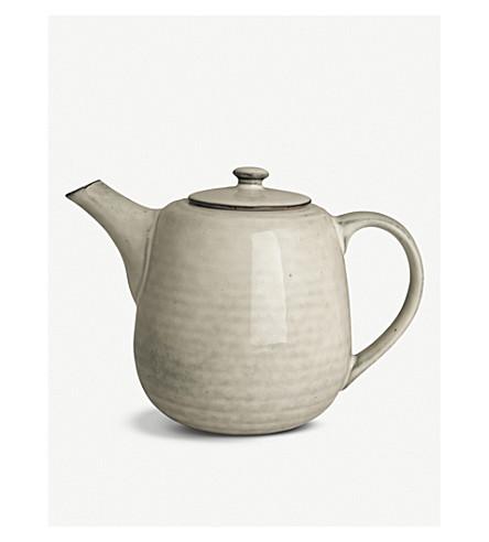 BROSTE Nordic Sand stoneware teapot