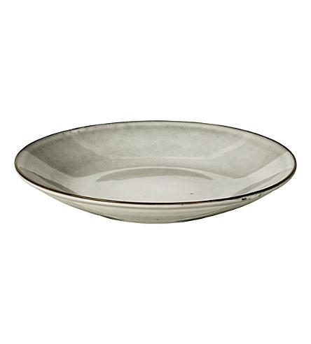 BROSTE Nordic Sand stoneware pasta plate