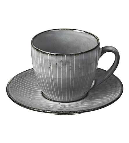 BROSTE Nordic Sea stoneware cup and saucer