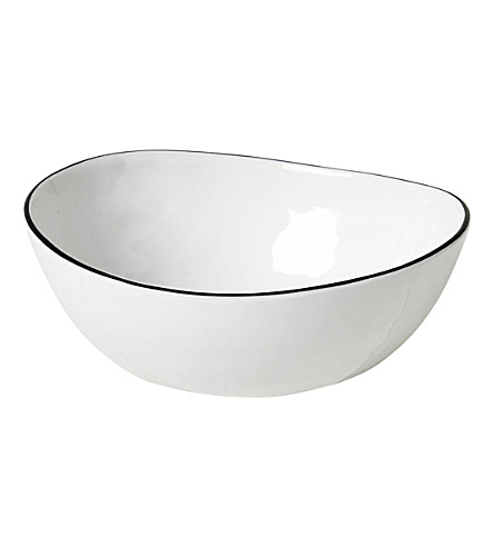BROSTE Curved salt porcelain bowl