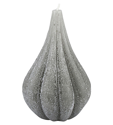 BROSTE Onion grey candle 15.2cm
